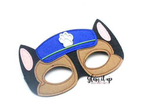 Paw Patrol Mask-Felt mask-Dress up-halloween mask-party mask-party favor-paw patrol costume-chase mask