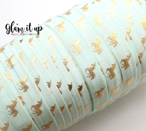 "Unicorn Print Mint 5/8"" FOE"
