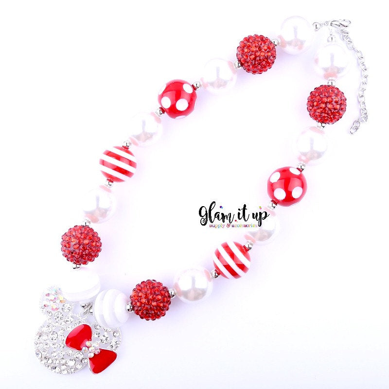 Red Mouse Chunky Necklace