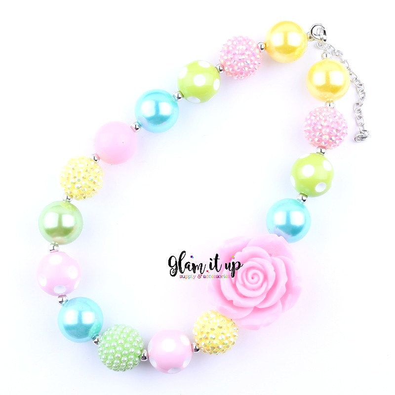 Pastel Rainbow Necklace - Chunky Necklace
