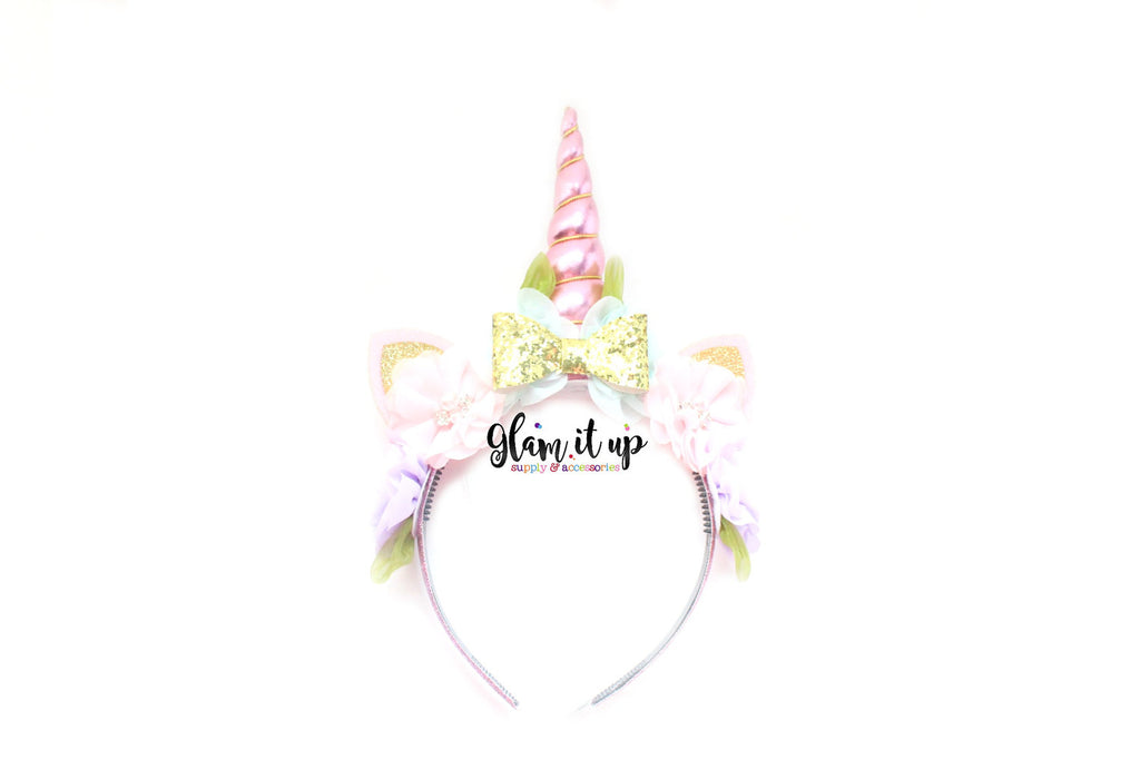 Unicorn Pink Headband - Floral Unicorn