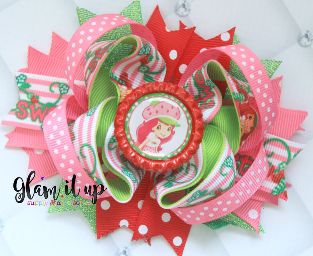 Strawberry Shortcake Hair Bow
