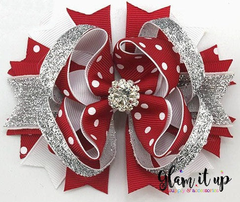 Silver Bells Christmas Bow