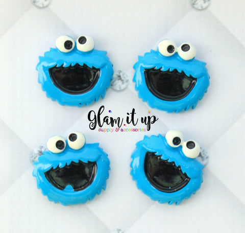 Cookie Monster Bow Center