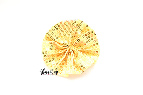 Yellow Gold Sequin Ruffle Ballerina Flower