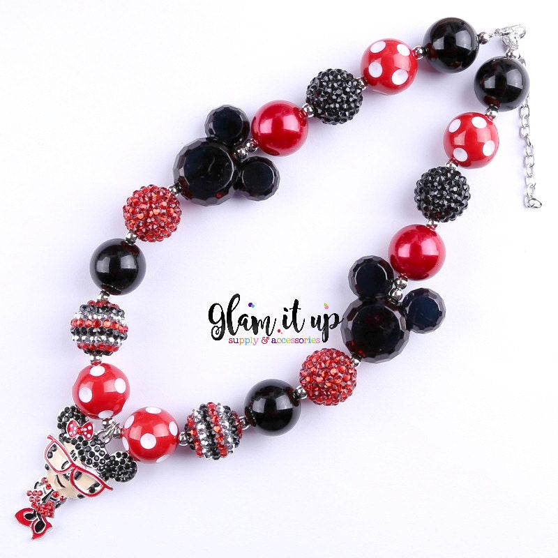 Minnie Mouse Necklace - Chunky Necklace