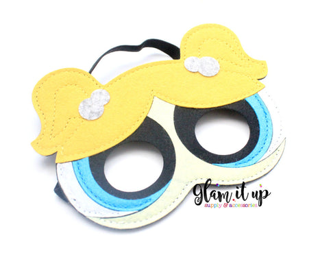 Power puff girl Mask-Felt mask-Dress up-halloween mask-party mask-party favor-power puff girl costume