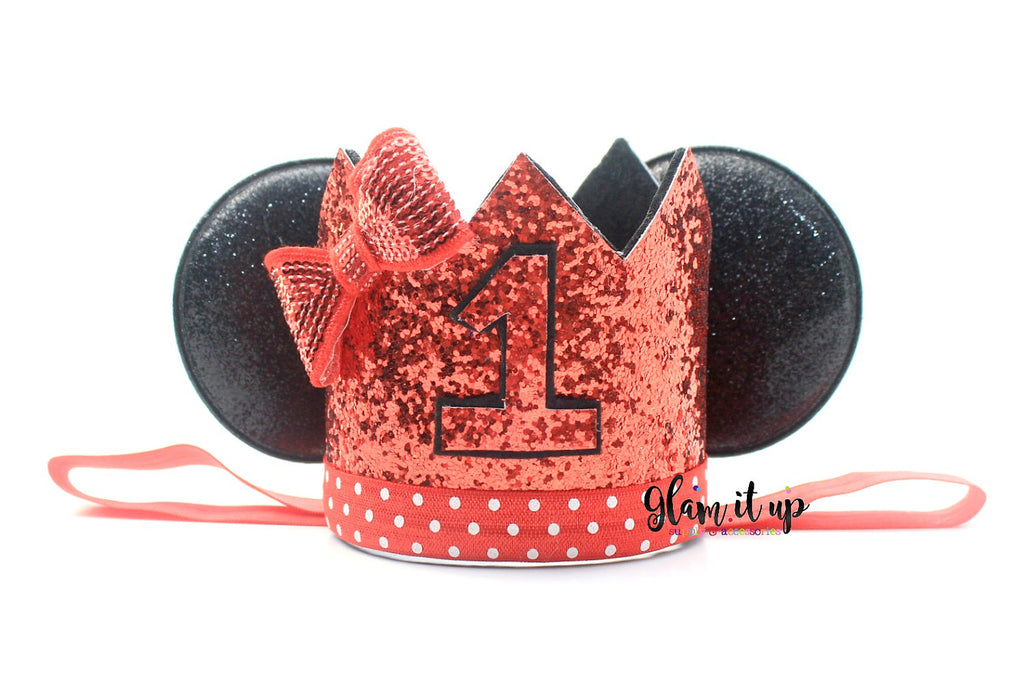 First Birthday Hat Crown Outfit 1st