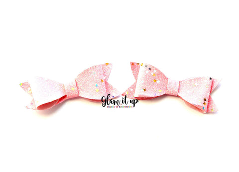 "Glitter Star 2.5"" Pink Bows"