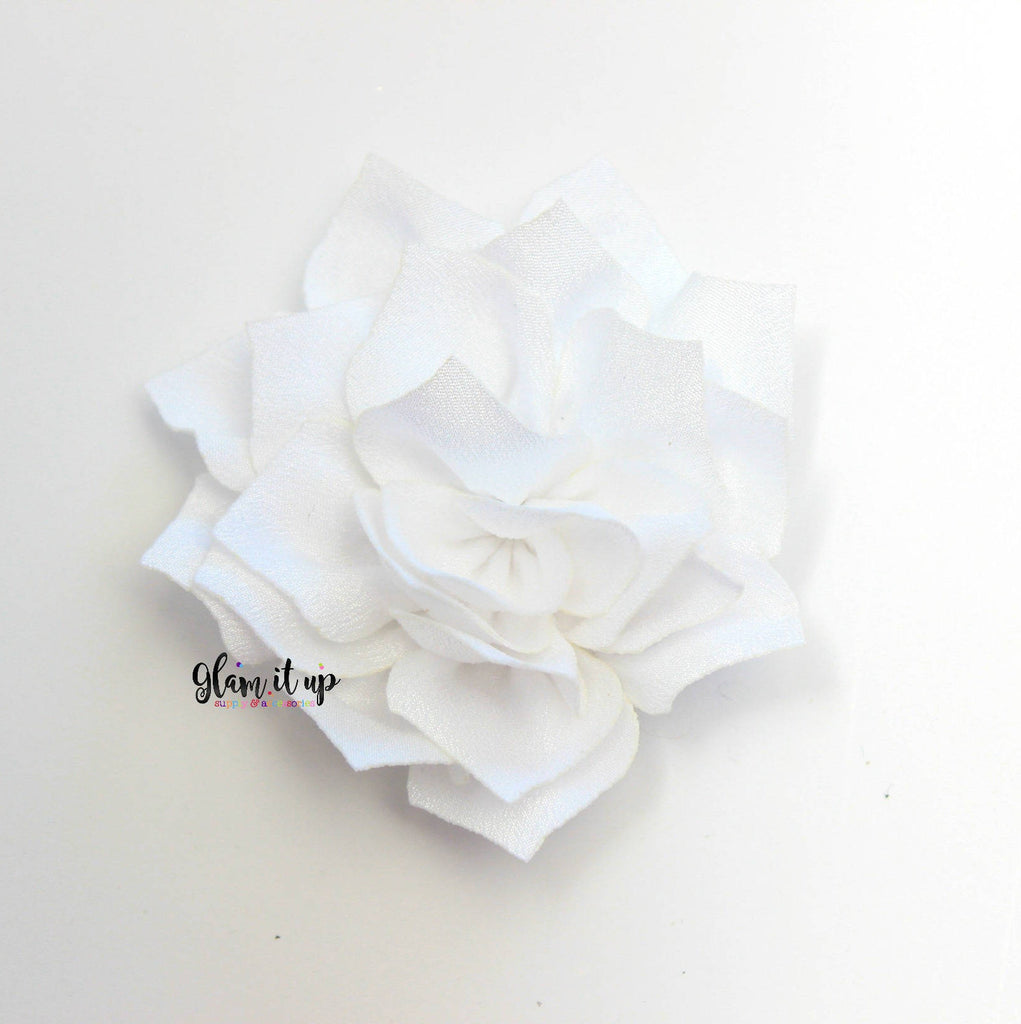"Lotus White 3"" Satin Flower"