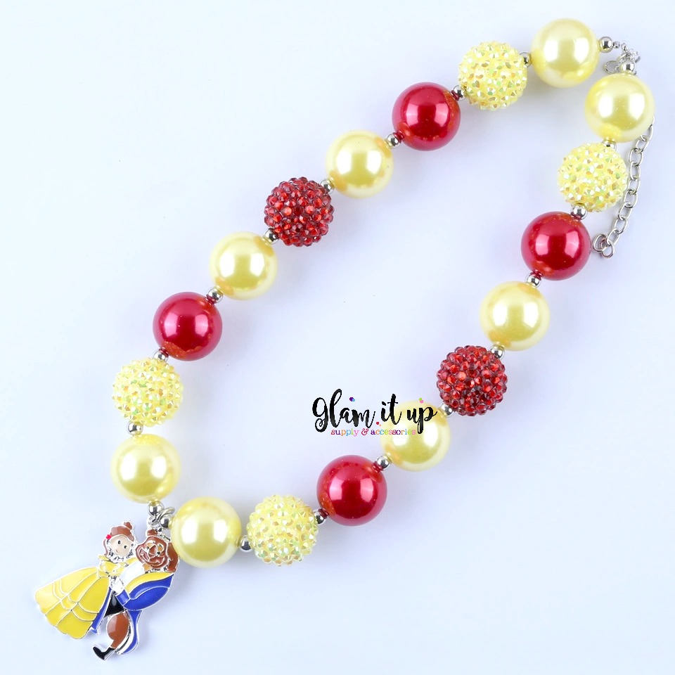 Beauty & the Beast Necklace - Chunky Necklace