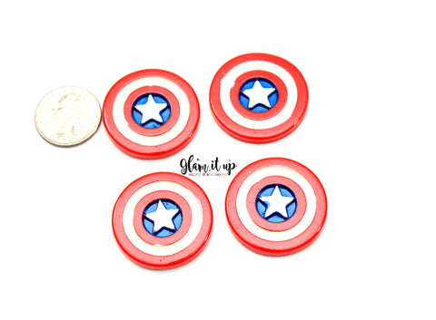 Captain America Hair Bow Center
