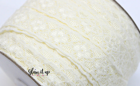 "Lace 5/8"" FOE - Fold Over Elastic"