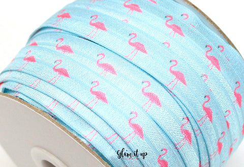 "Flamingo 5/8"" FOE - Fold Over Elastic"