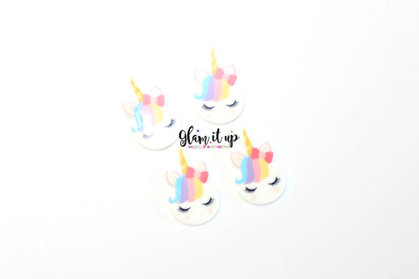 Unicorn Hair Bow Center-Unicorn resin-unicorn cabochon