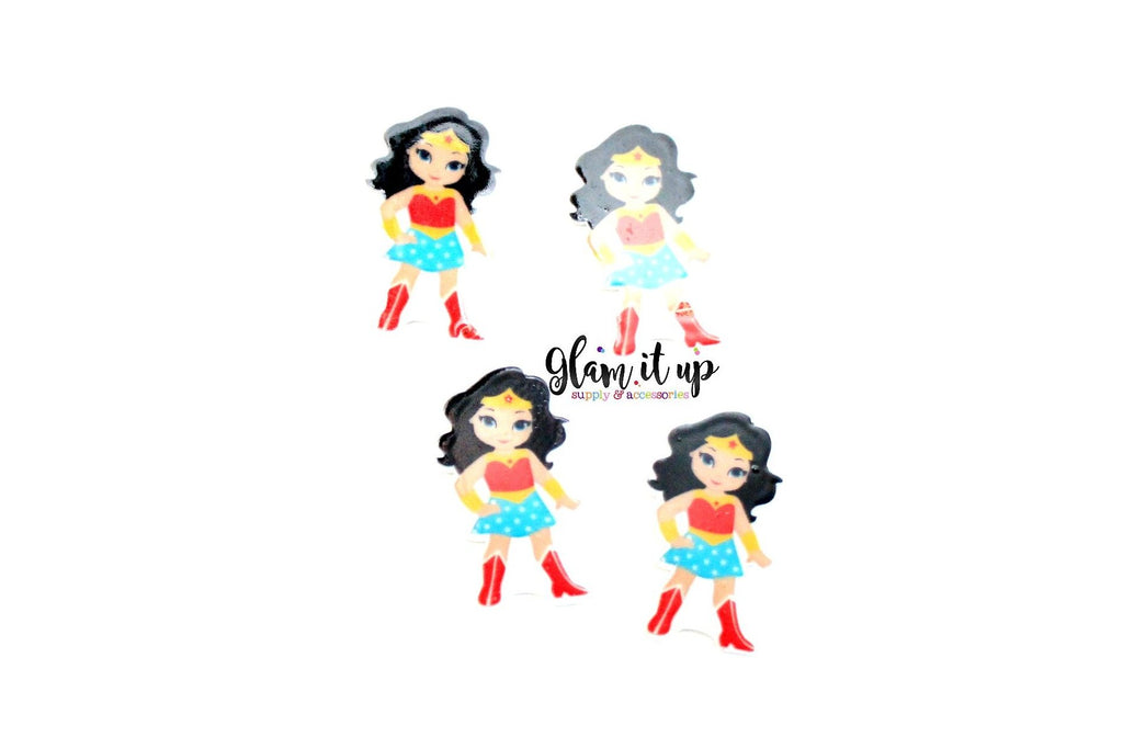 Wonder Woman Bow Center- wonder woman resin
