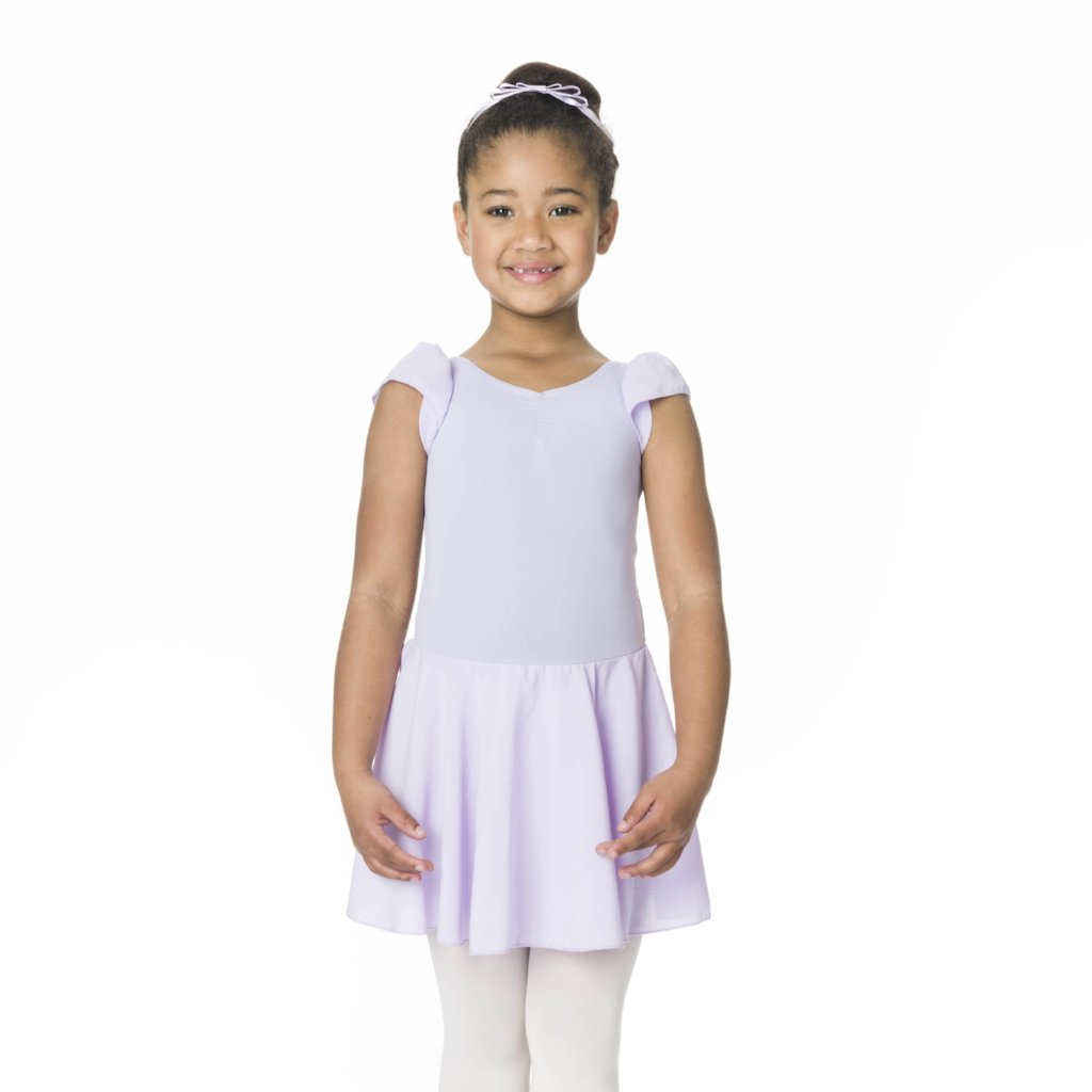 Studio 7 Children's Cap Sleeve Chiffon Dress - Lilac