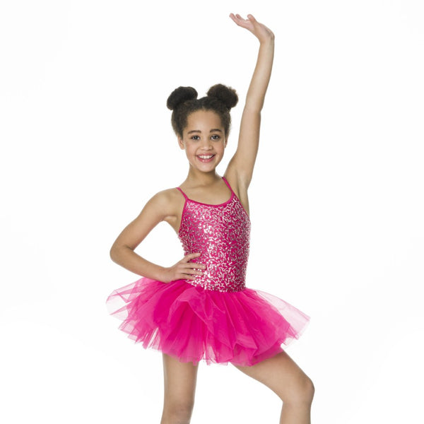 Studio 7 Children's Sequin Tutu Dress - Fuschia