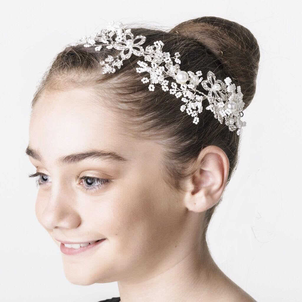 Winter Sparkle Hairpiece - Pearl White