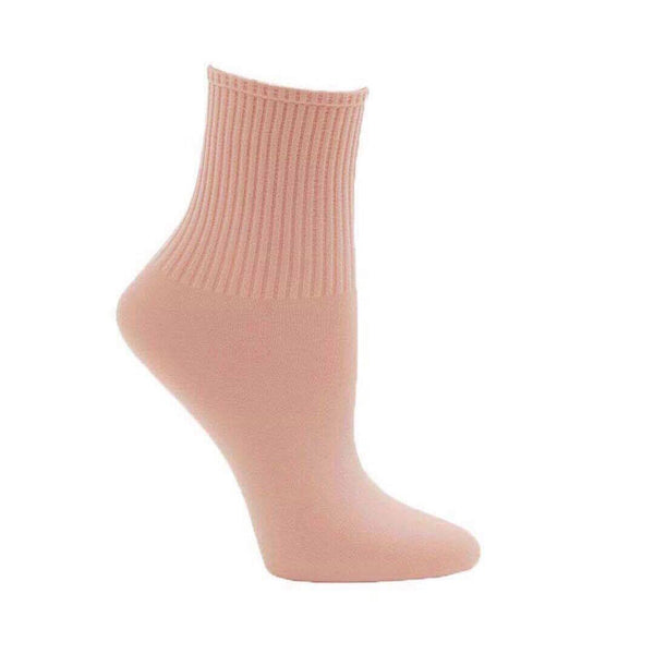 Capezio Ribbed Dance Sock - Salmon Pink