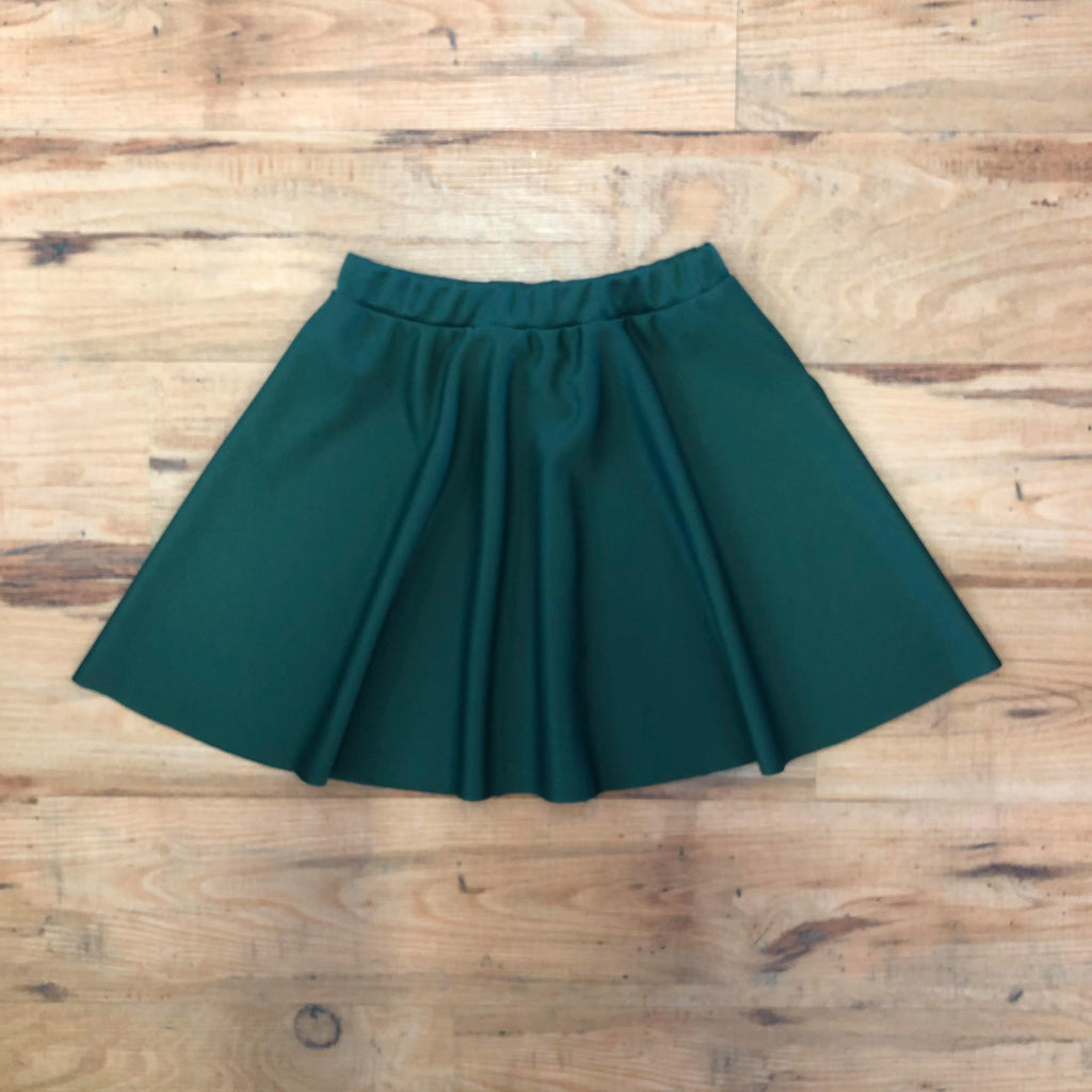 WIDA Half Circle Pull-On Skirt (Child) - Bottle Green