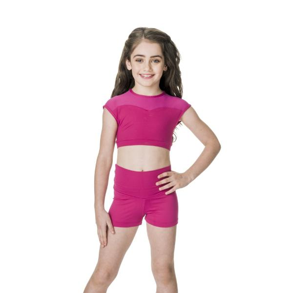 Studio 7 Children's Activate High Waisted Shorts - Mulberry
