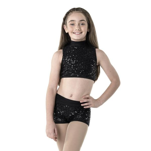 Studio 7 Adult's Attitude Sequin Shorts - Black