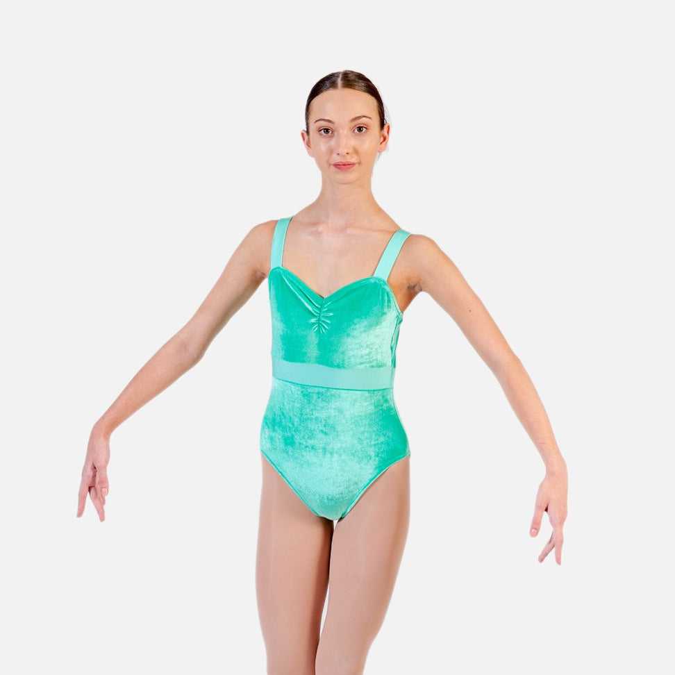 Ditto Dancewear Children's Wide Strap Velvet Leotard - Jacaranda