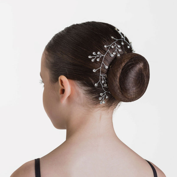 Budding Sparkle Hairpiece - Crystal White