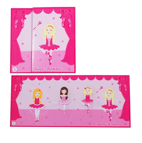 Ballerina Girls Birthday Card
