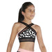 Bloch Cezanne Print Wide X Front Girls Crop Top