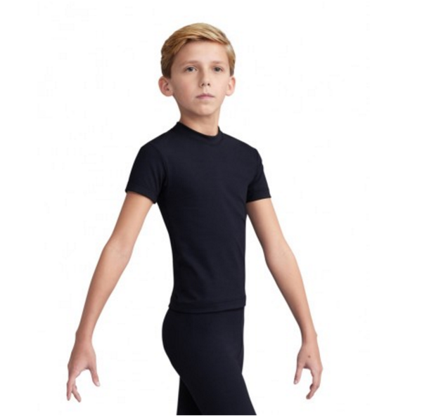 Capezio Boys Fitted Crew Neck T-Shirt - Black