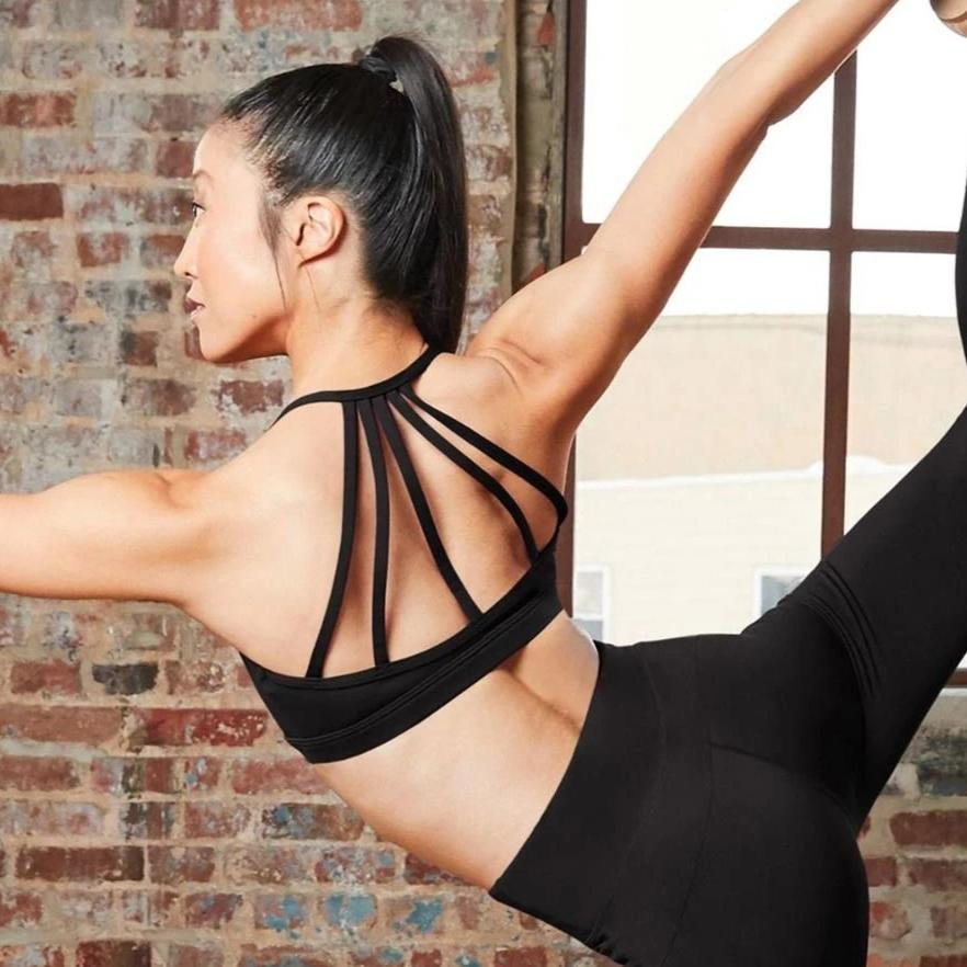 Capezio Tech Strappy Bra Top - Black