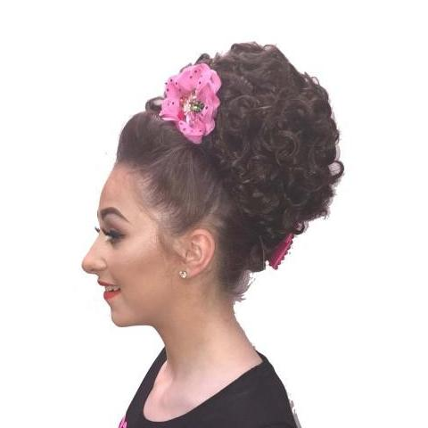Cara Irish Dancing Bun Wig - Large