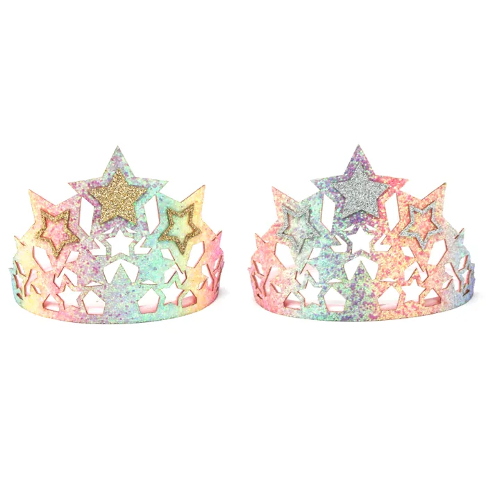 Pink Poppy Chunky Glitter Star Crown