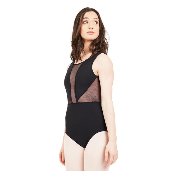 Capezio Adult's Cosmos V Back Tank Leotard - Black