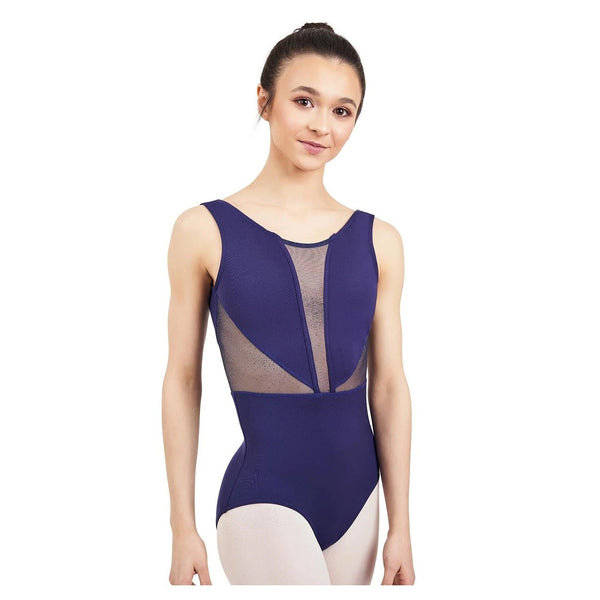 Capezio Adult's Cosmos V Back Tank Leotard - Galactic Blue
