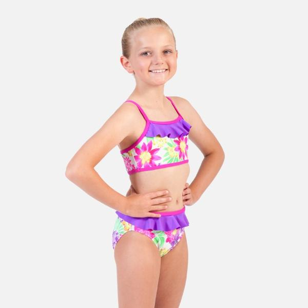 Ditto Dancewear Floral Fantasea 2 Piece Swim Set
