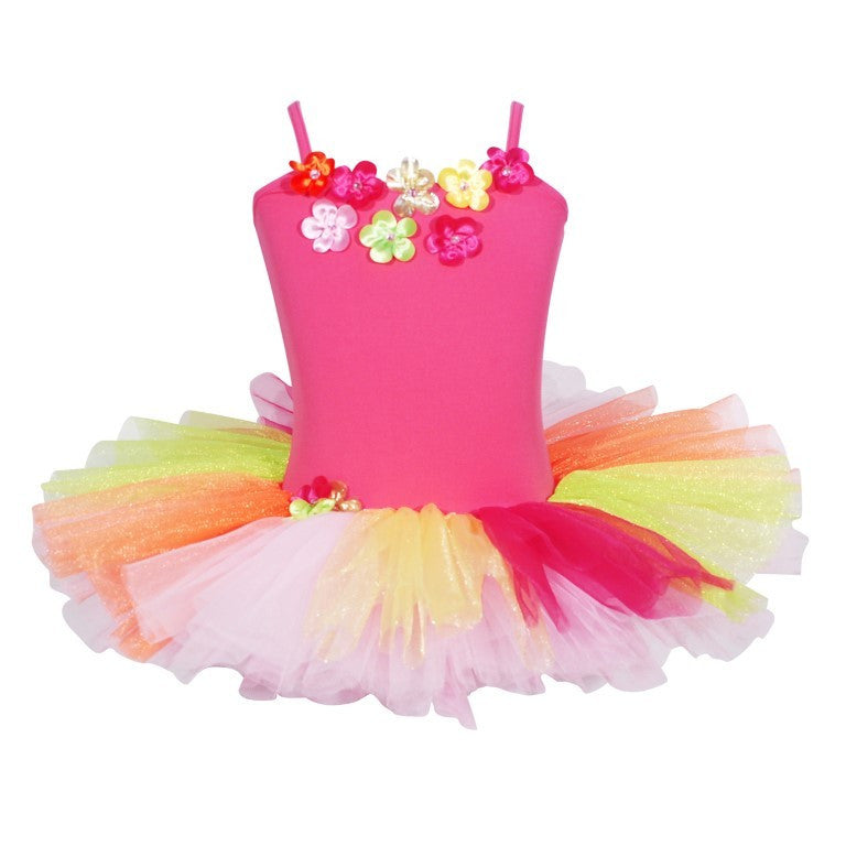 Pink Poppy Daisy Tutu Dress - Size 5/6