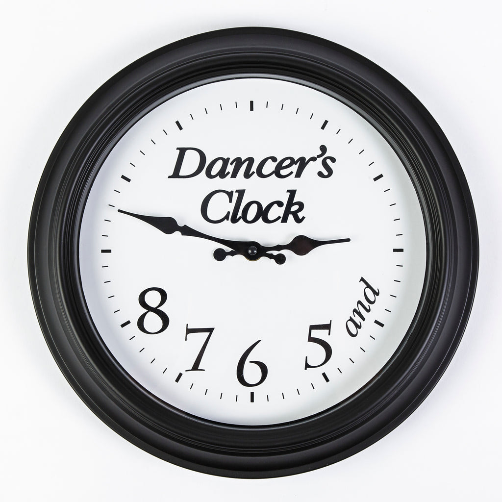5, 6, 7, 8 Dancer's Clock - Black