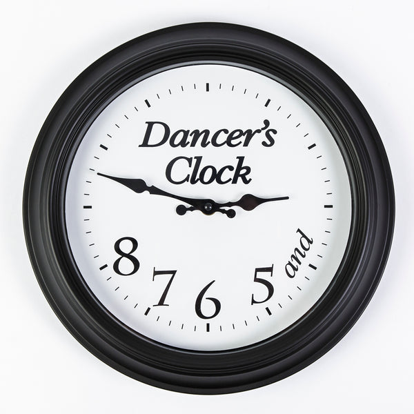 Dancer's Clock 5, 6, 7, 8 - Black