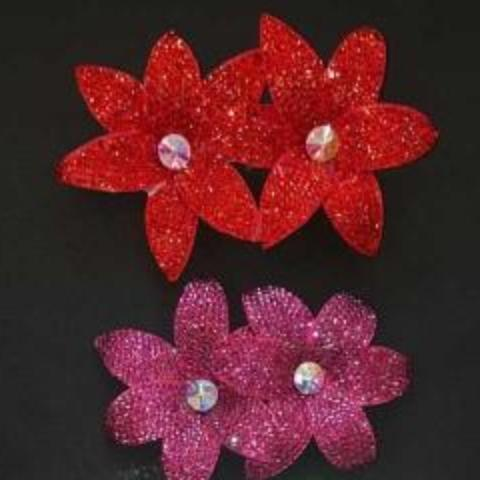Double Flower Hairclip - 3 colours available