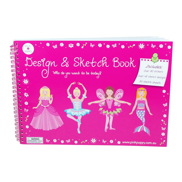 Pink Poppy Essential Girls Design & Sketch Book