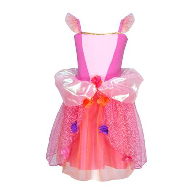 Pink Poppy Flower Princess Dress - Pink