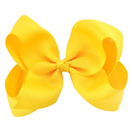 Hair Bow - Yellow