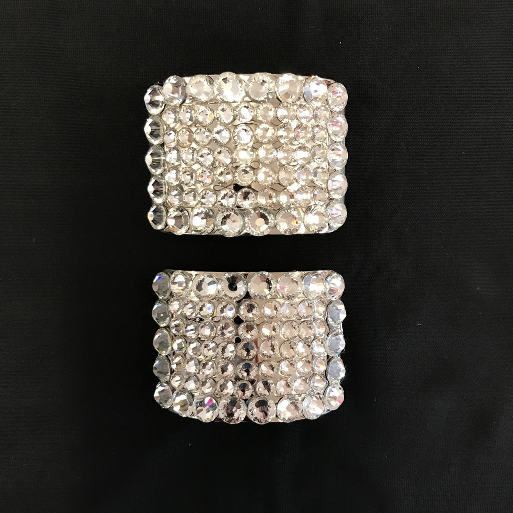 Sparkle Shoe Buckles - Clear Crystals