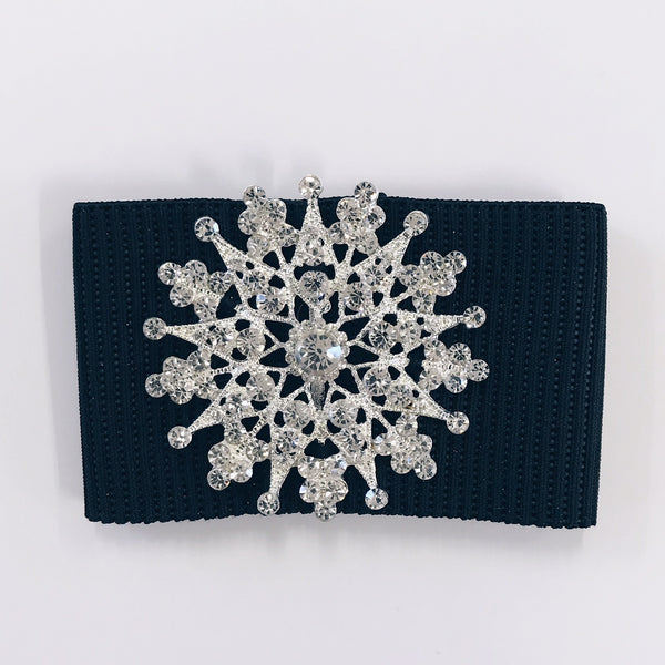 Irish Buckles - Sparkle Snowflake Shape - 50mm diameter