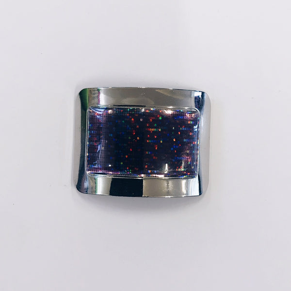 Irish Buckles - Silver and Purple Holographic