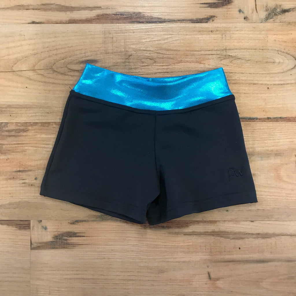 PW Dancewear Agile Pant - Black and Teal Sparkle