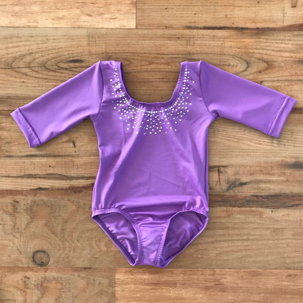 Nina Ballerina 3/4 Sleeve Leotard - Purple